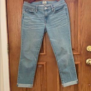 J. Crew Slim Broken In Boyfriend Jeans 27T